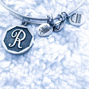 "Alex and Ani ""R"" Bracelet"